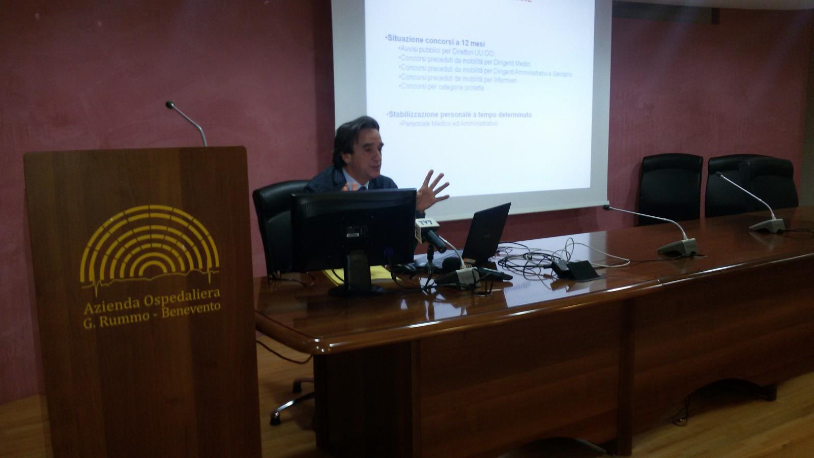 Azienda ospedaliera Rummo: Berruti traccia il bilancio del 2015
