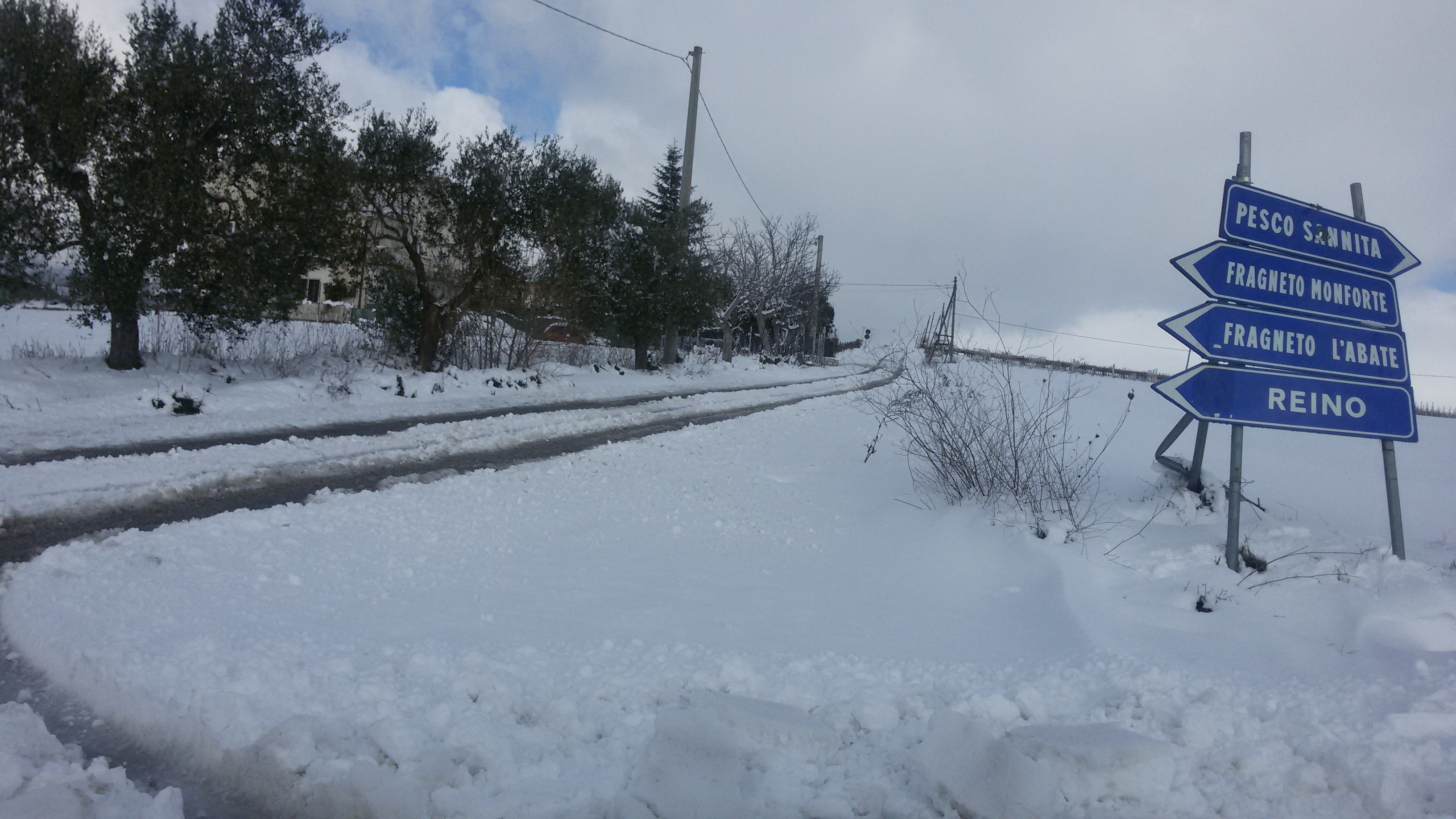 Sannio e Irpinia, week end sotto la neve