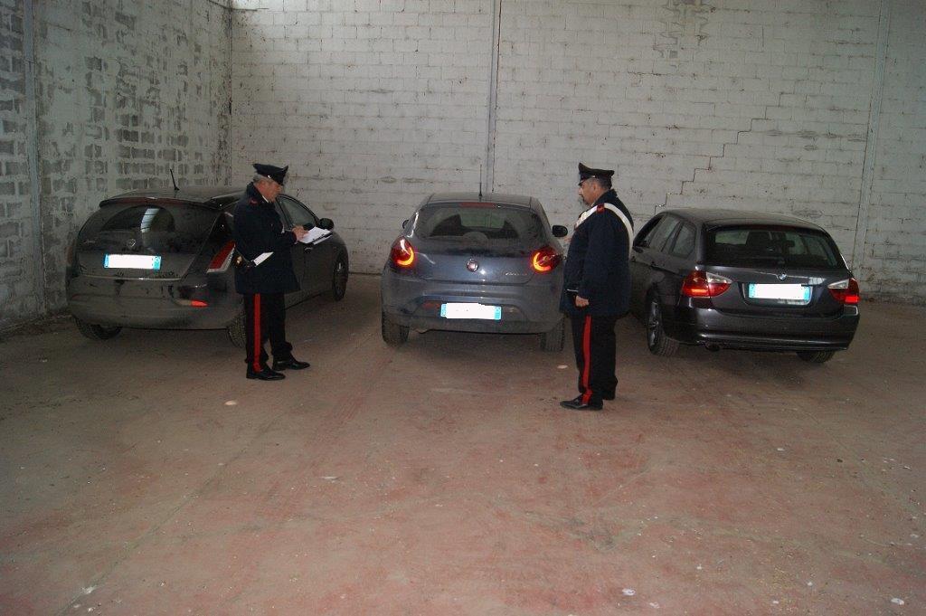 Ritrovate tre auto rubate: segnalati due pensionati