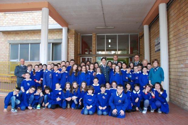 """Il Capitano Zito in visita alla scuola """"Moscati"""" di Benevento"""
