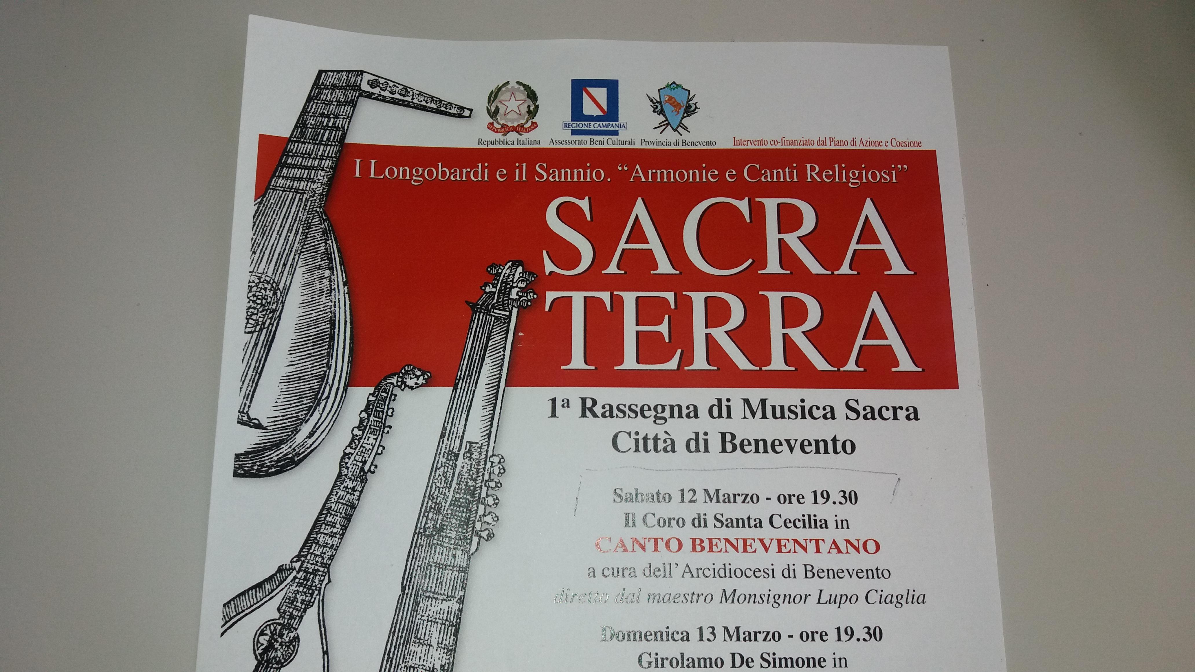 """A Marzo """"Sacra Terra"""": tra musica e arte"""