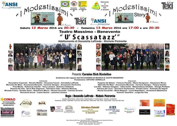 """Al Teatro Massimo arriva """"U' Scassatazz"""""""