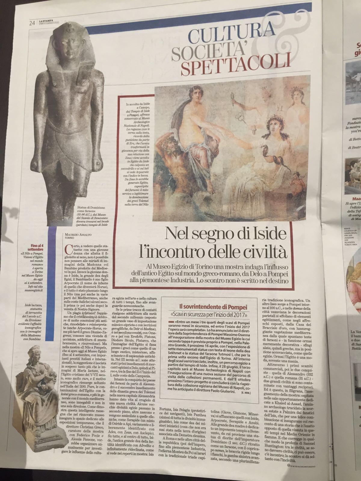 """Iside a Torino: successo per la mostra """"beneventana"""""""