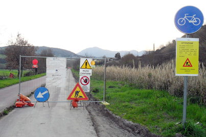 Chiude per ristrutturazione la pista ciclopedonale