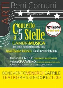 Locandina Concerto a 5 Stelle