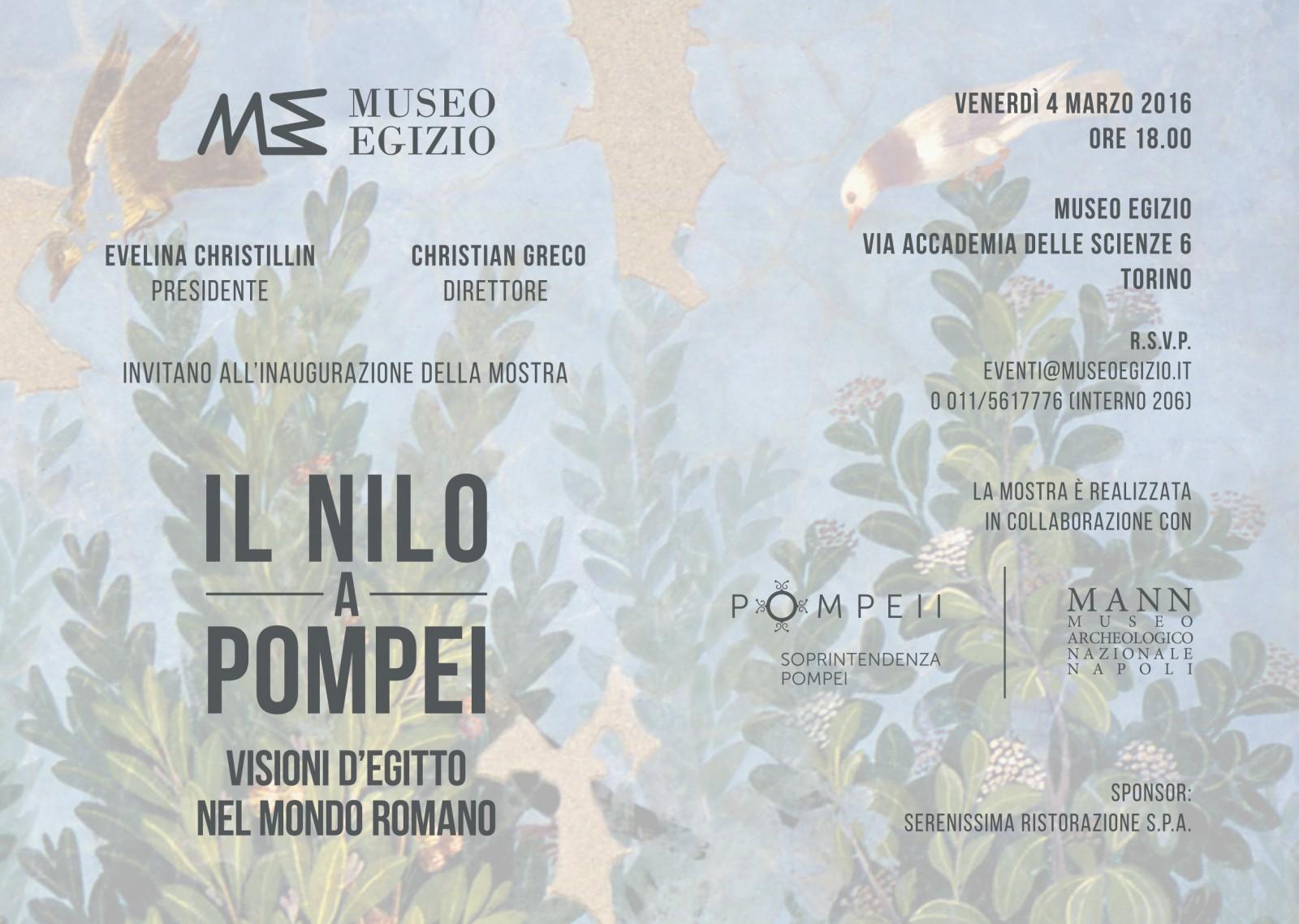 """Provincia: pochi giorni alla mostra """"il Nilo a Pompei"""""""