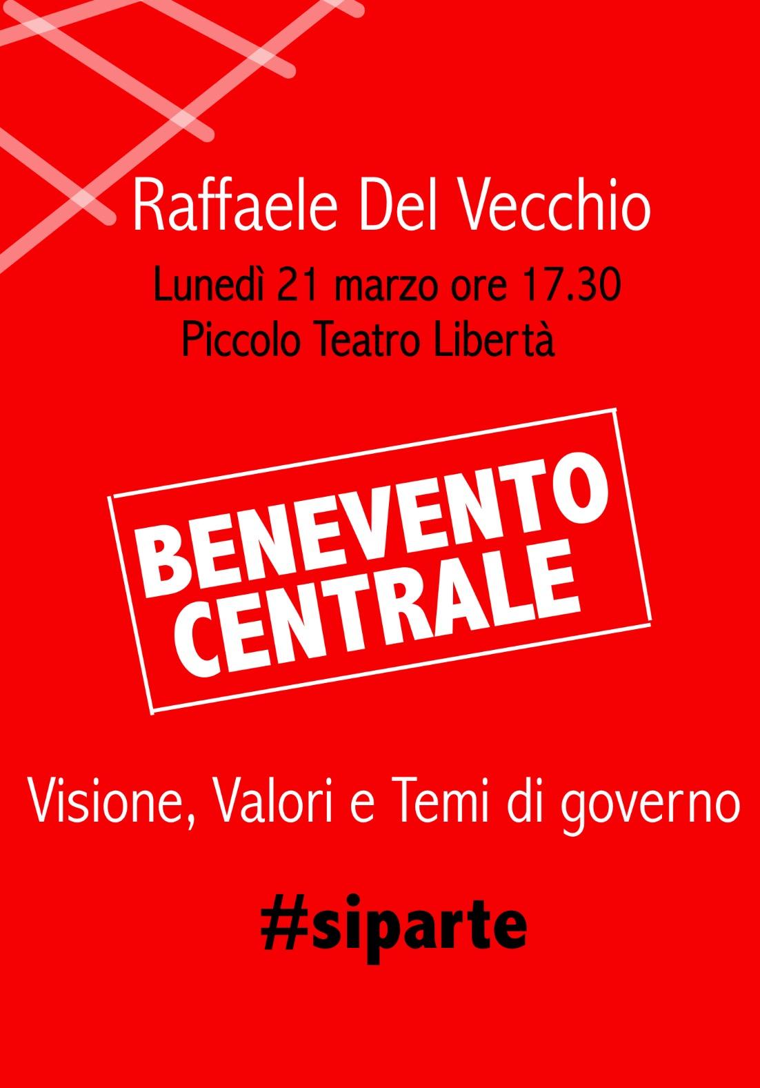 Al Teatro Rione libertà la campagna elettorale di Del Vecchio