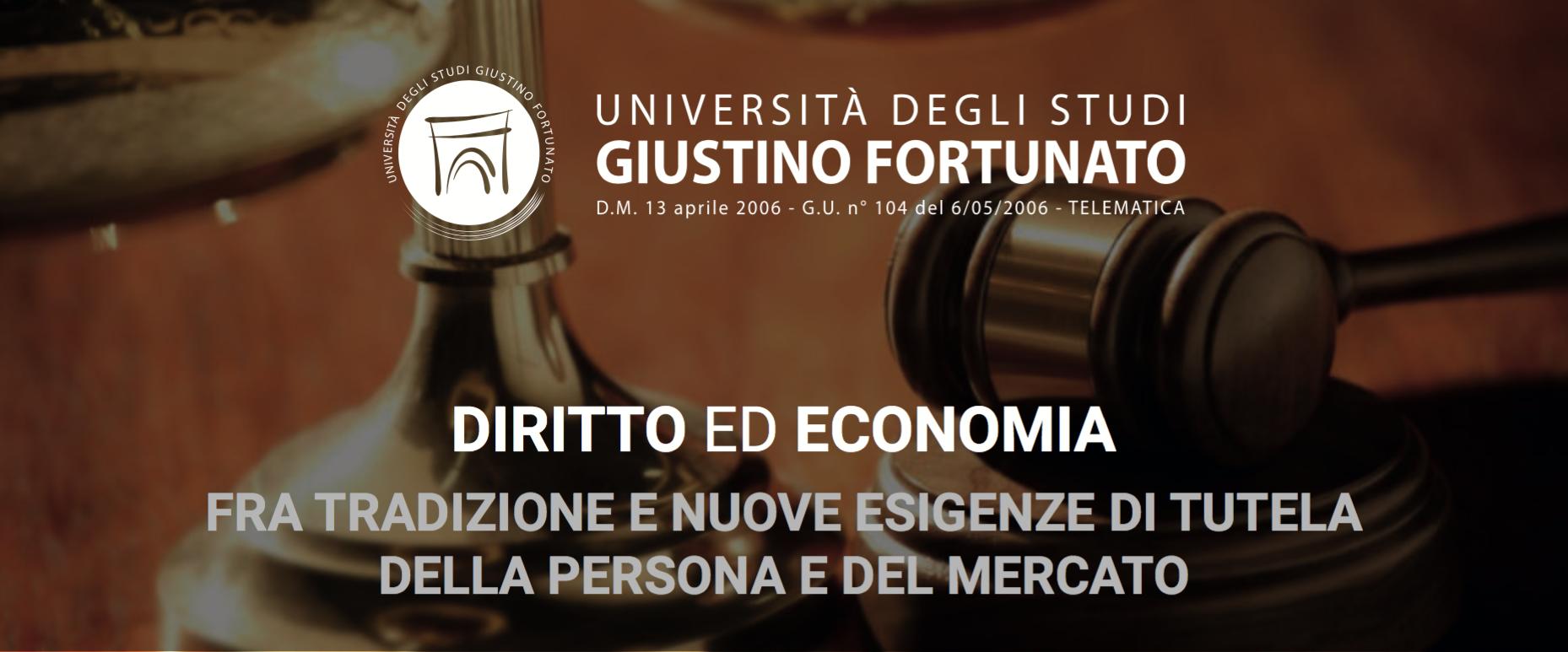 """Alla Giustino Fortunato il ciclo di seminari su """"Diritto ed Economia"""""""