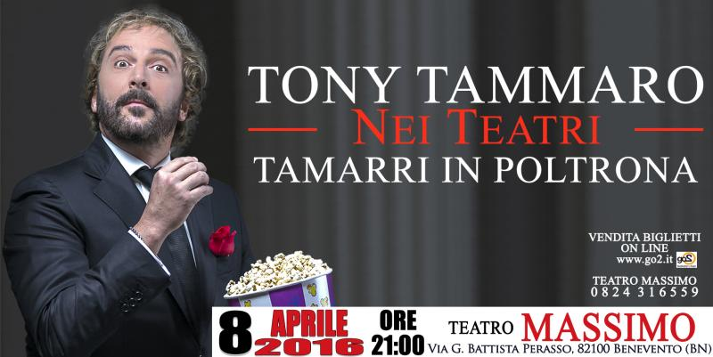 """Tamarri in Poltrona"": Benevento accoglie Tony Tammaro"