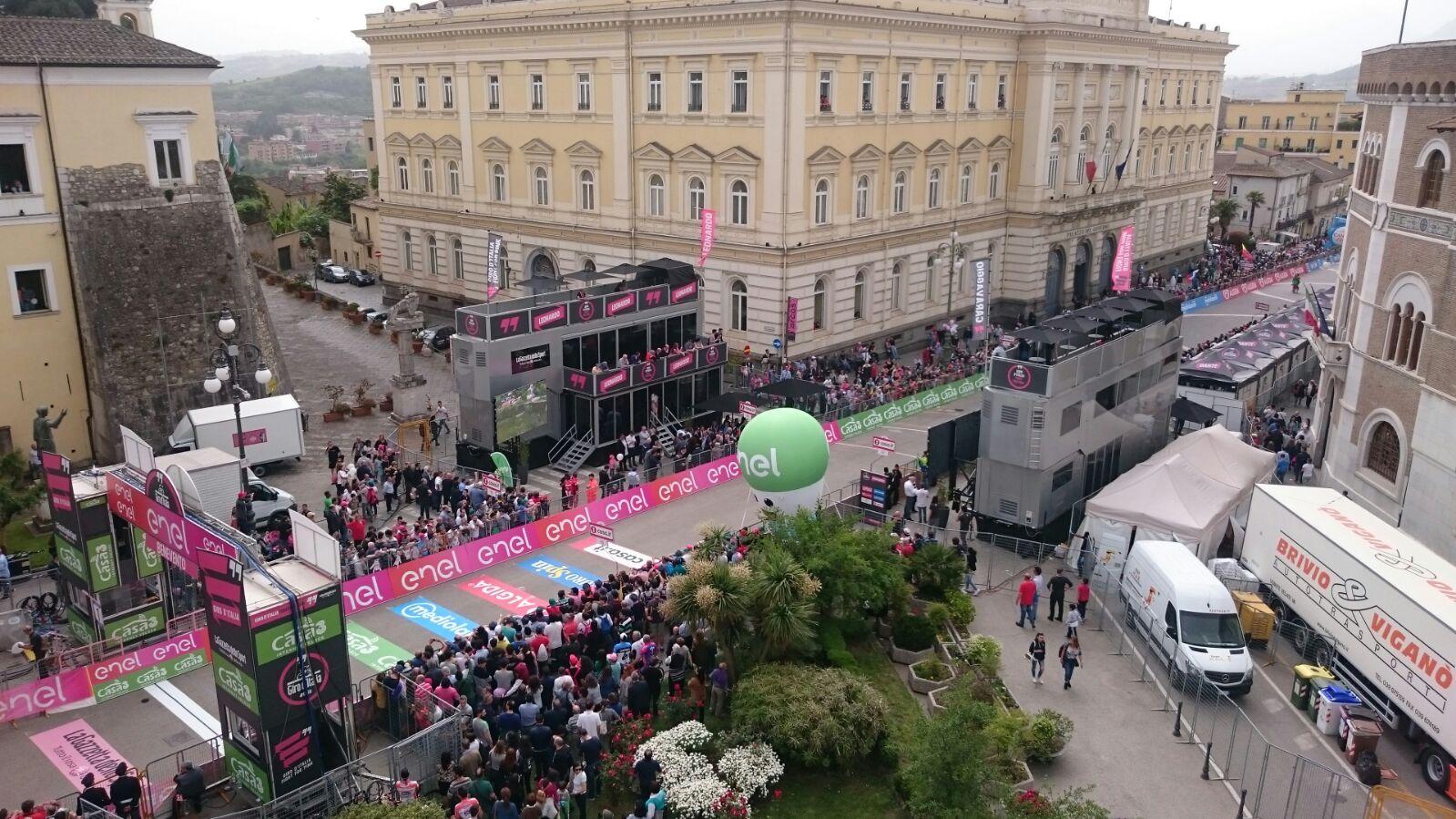 Bilancio positivo per il Giro D'Italia nel Sannio