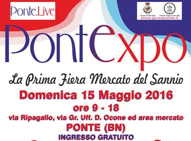"""Taglio del nastro per """"PontExpo- La prima fiera Mercato del Sannio"""""""
