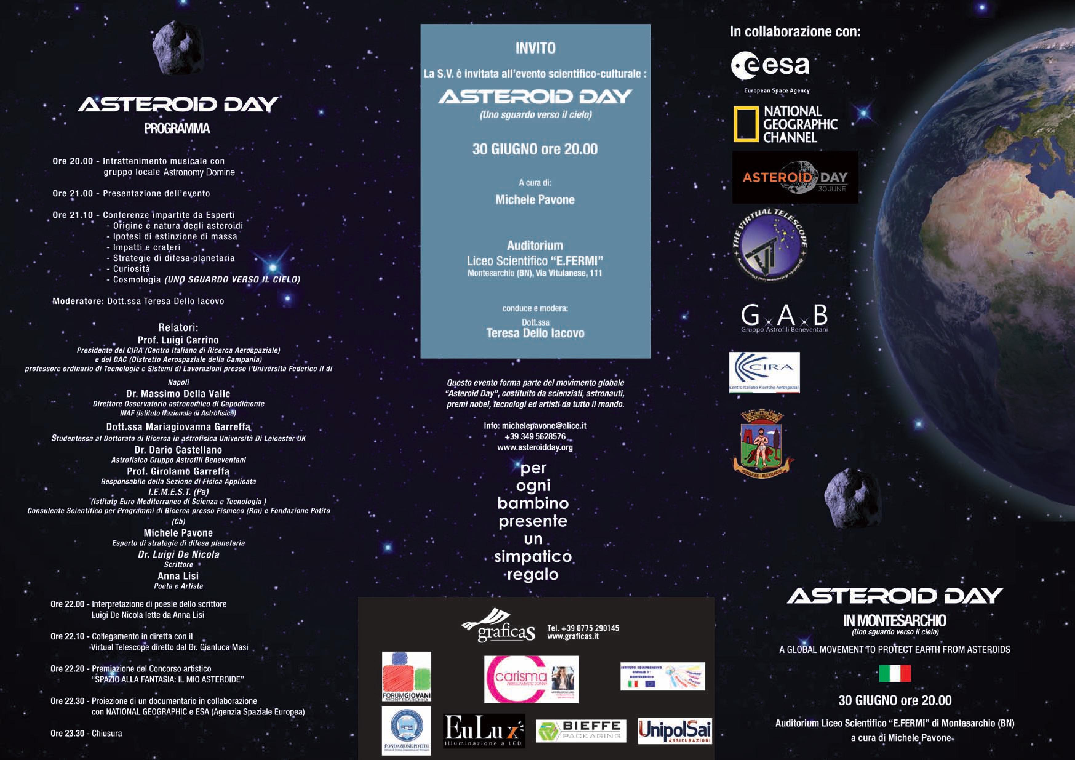 """""""Asteroid Day"""": al liceo """"Fermi"""" riflessioni tra le stelle"""
