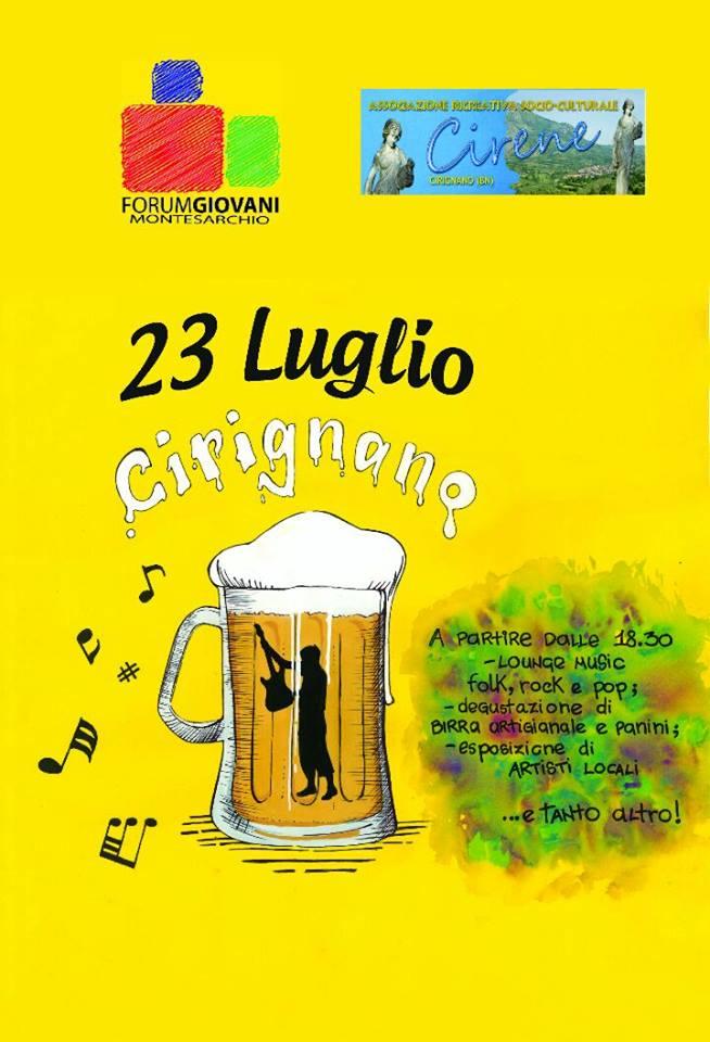 La festa della birra a Cirignano