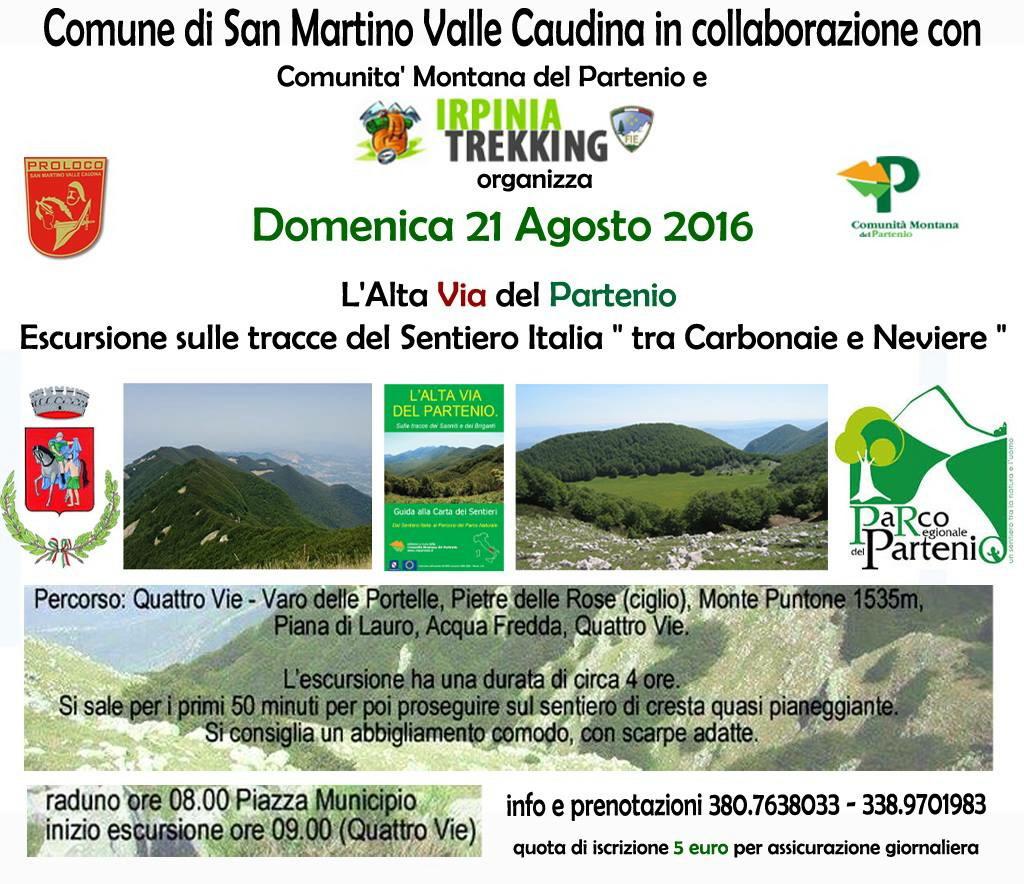 """""""L'Alta via del Partenio"""", l'escursione trekking tra i sentieri montani"""