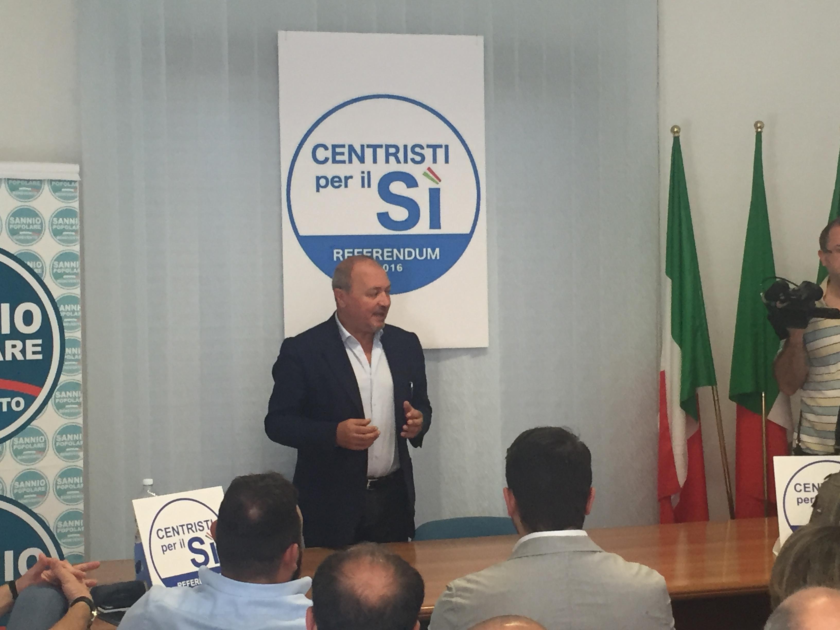 Benevento  Sannio Popolare, Santamaria: schierati per il SI