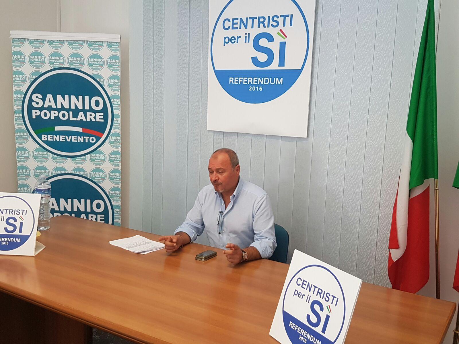 Benevento  Sannio Popolare, Santamaria: con Casini per il Si