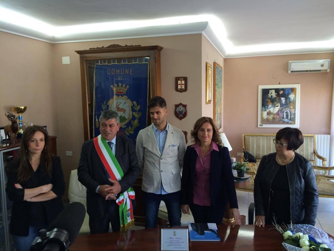 Cervinara| L'amministrazione comunale premia il giovane Flavio Valente