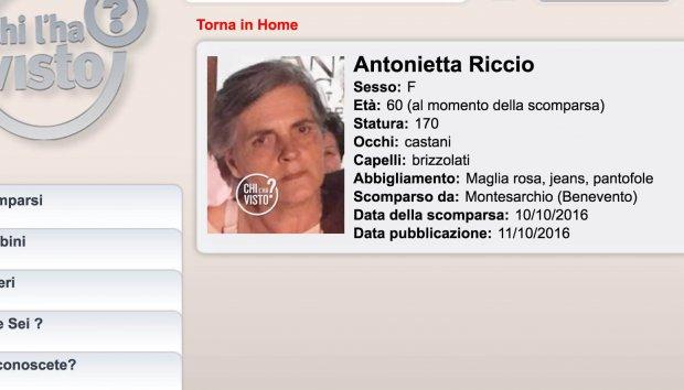 Montesarchio| Ritrovata Antonietta Riccio, la 60enne scomparsa