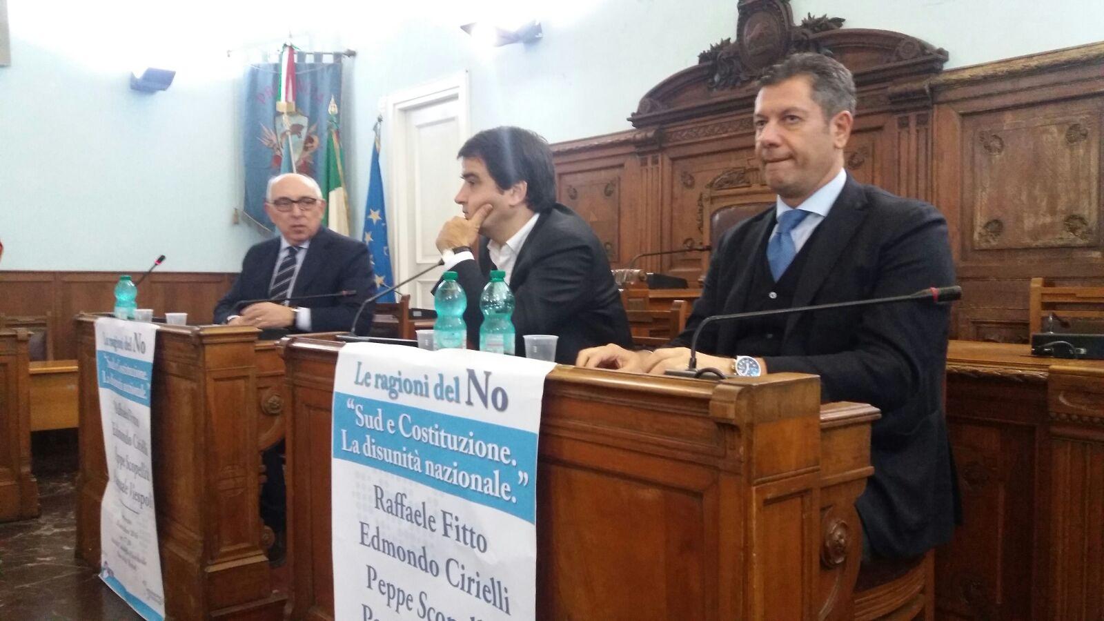 Benevento| Viespoli e Fitto: Sud sparisce se vince il Si