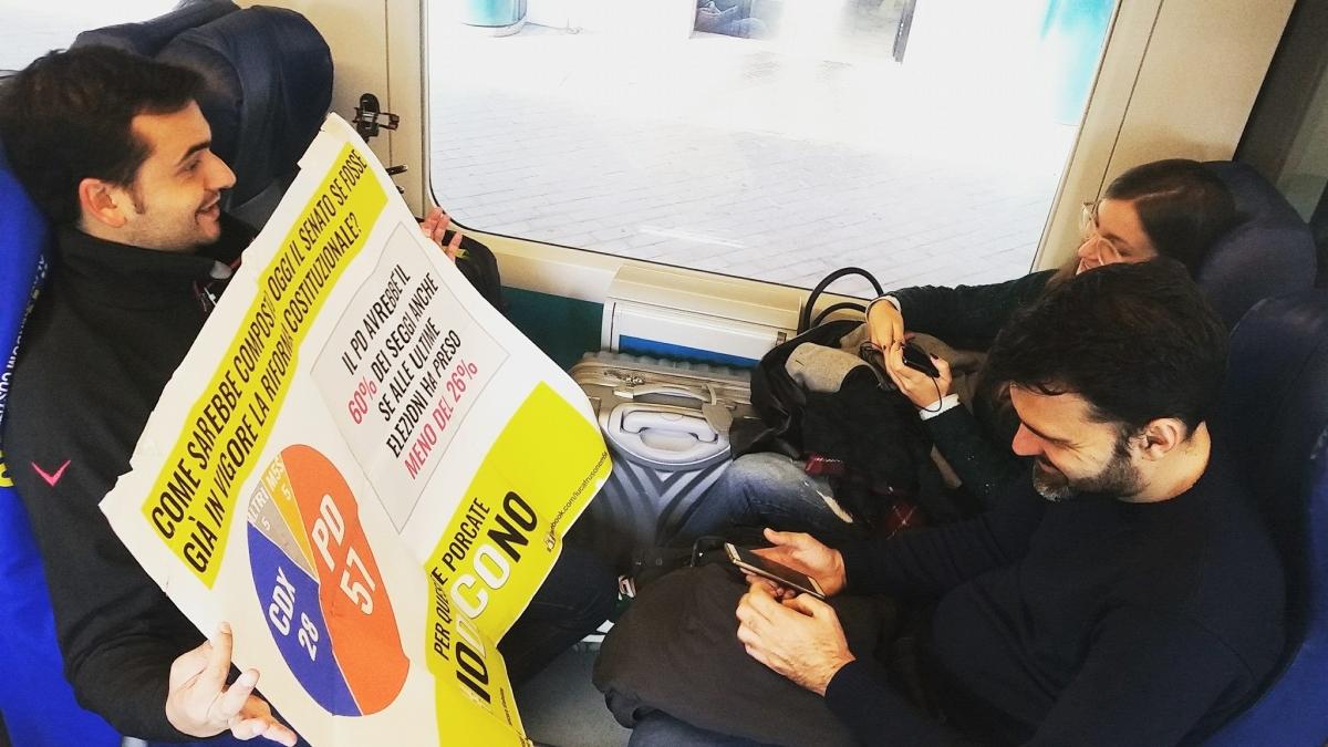 Manocalzati| Referendum, il corteo del M5s