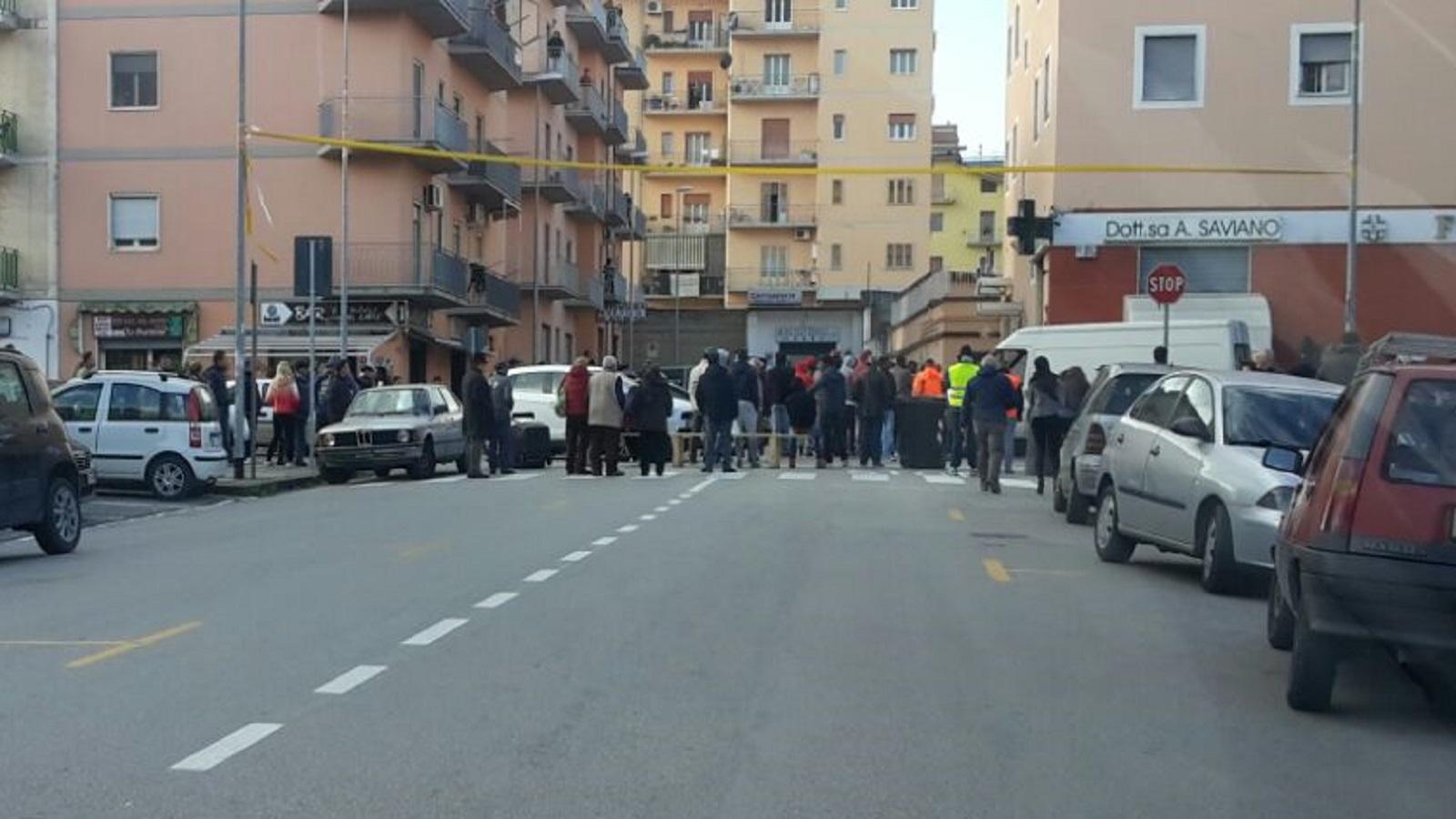 Benevento  Protesta di immigrati in via Cocchia
