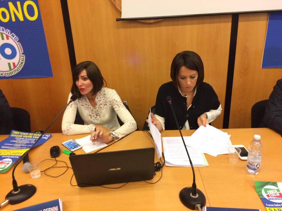 Benevento| Forza Italia: Bernini e De Girolamo unite per il No al Referendum