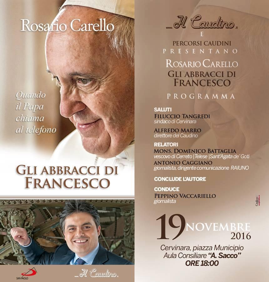 Cervinara| Rosario Carello presenta il suo libro
