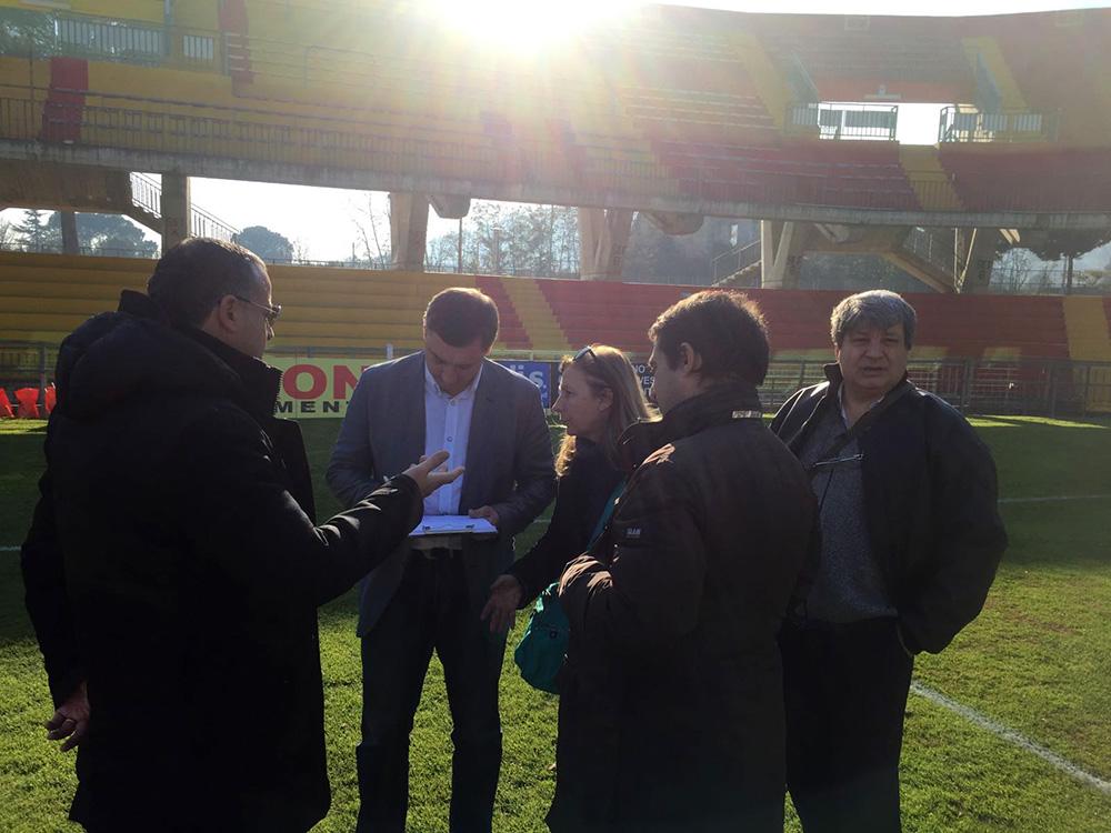 Benevento| Univerisadi, visionati gli impianti sportivi beneventani