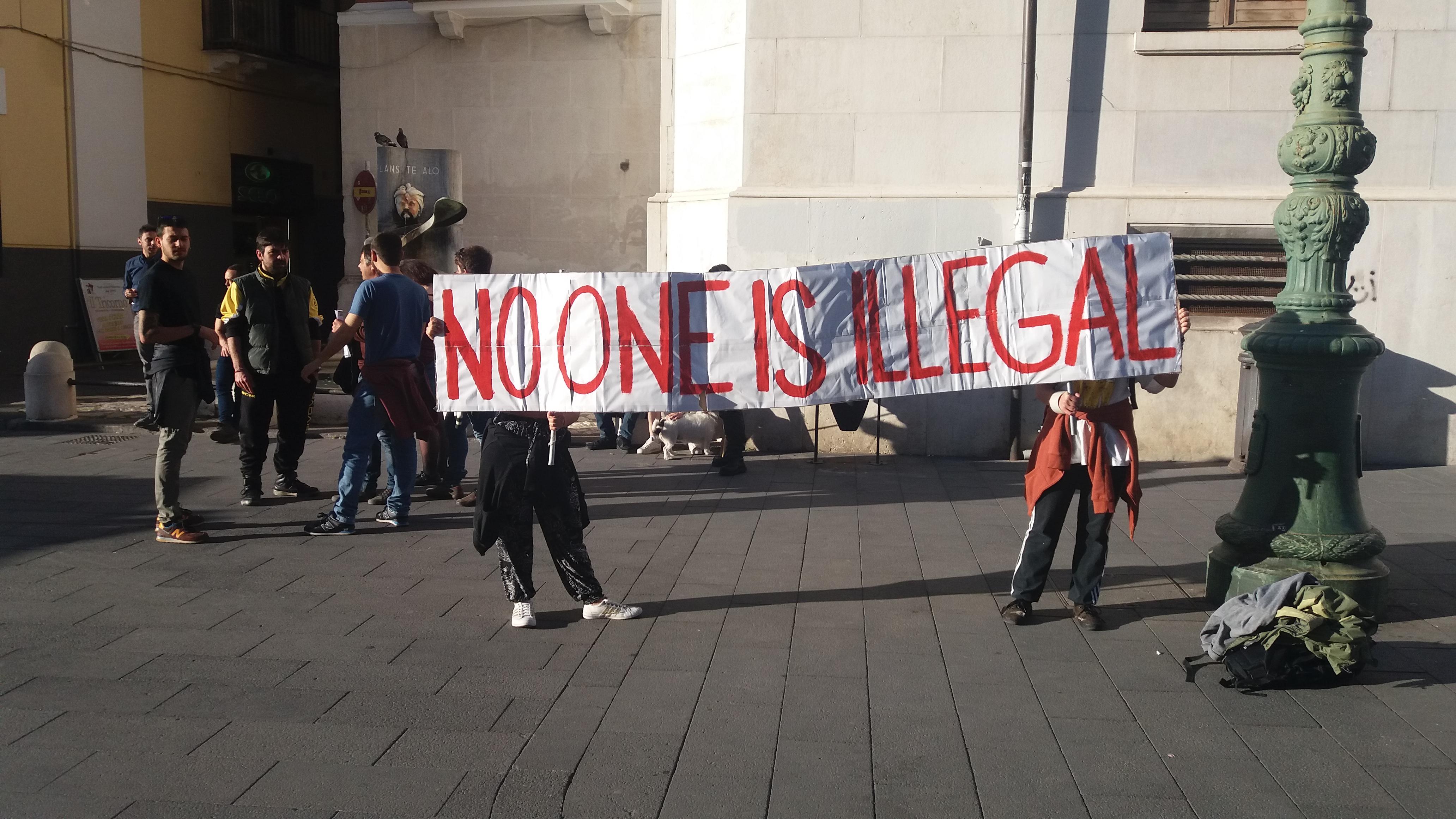 Immigrati e sicurezza, presidio contro il Decreto Minniti a Benevento