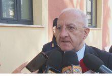 "Dea, De Luca: ""basta proteste altrimenti si chiude presidio Sant'Agata"""