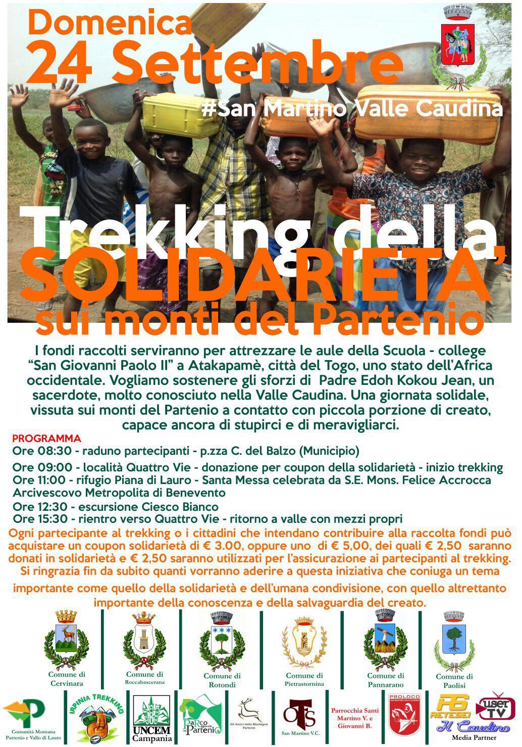 """San Martino V. C.  Una passeggiata sui monti del Partenio, domenica il """"Trekking della Solidarietà"""""""