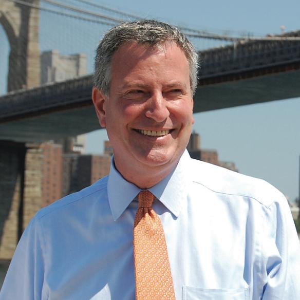 Sant'Agata de' Goti  Bill De Blasio di nuovo sindaco di New York