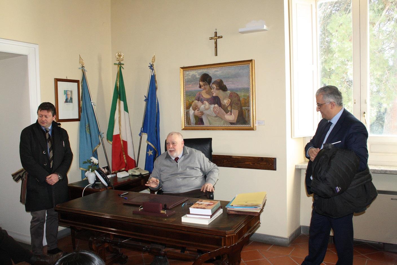 Benevento  Provincia: la Banca di Credito in visita da Ricci