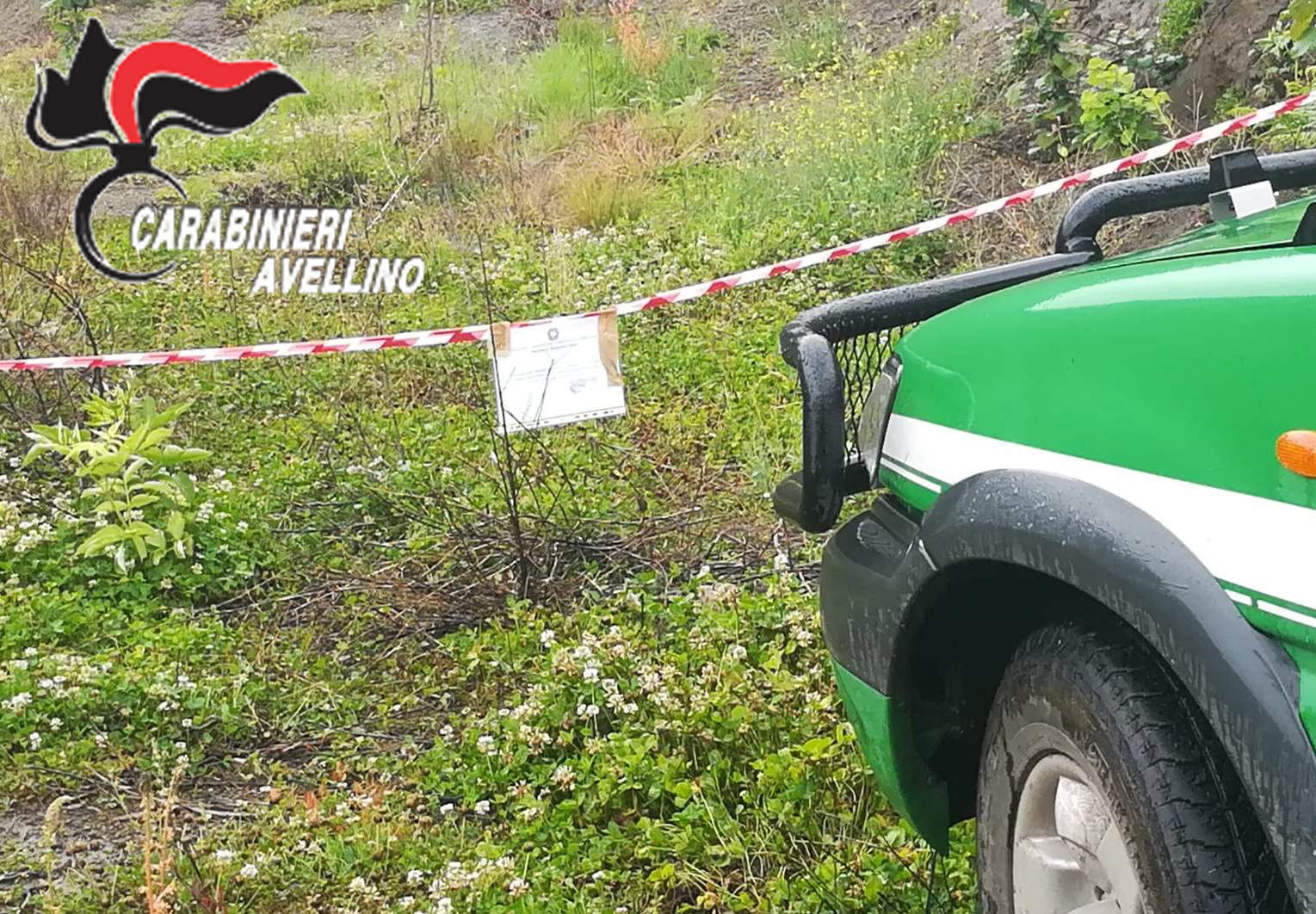 Tufo| Opere abusive in un fondo rustico vincolato, scattano sequestro dell'area e 7 denunce