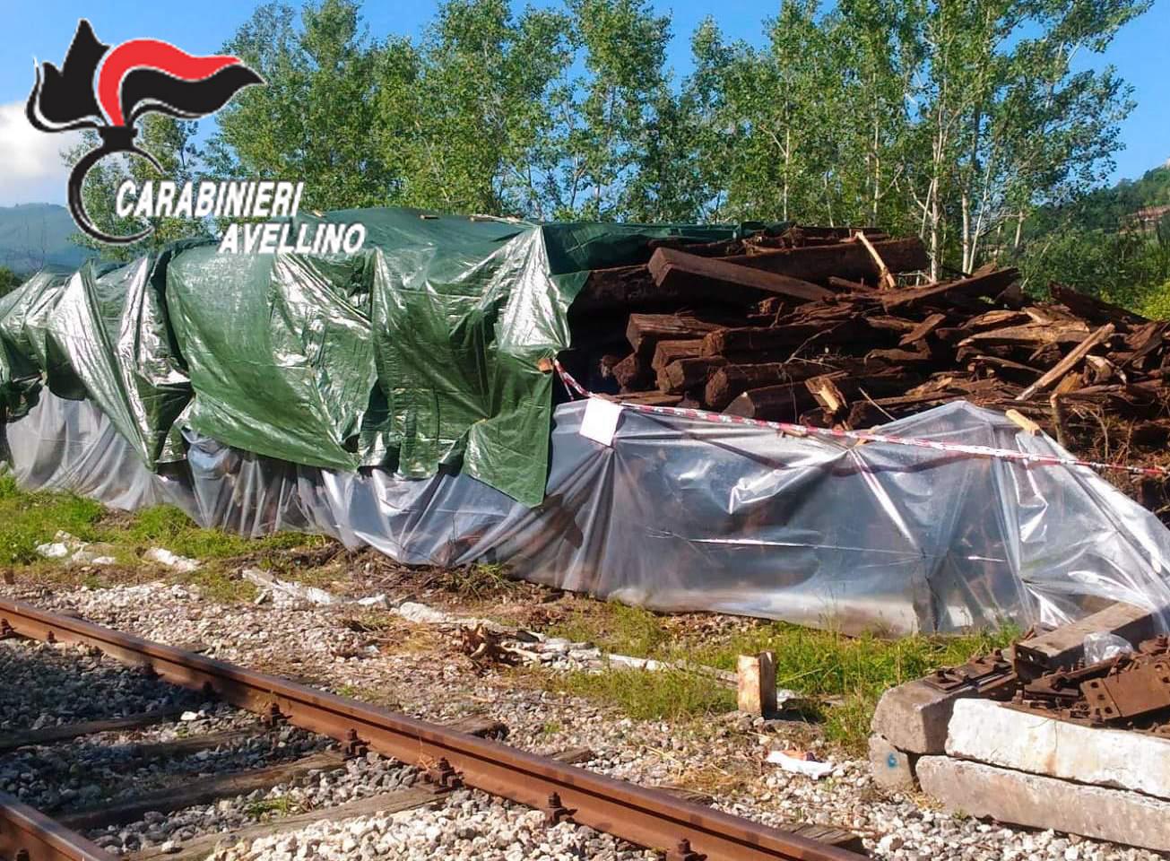 Montefalcione| Traversine al creasoto, sequestrata area di Ferrovie dello Stato