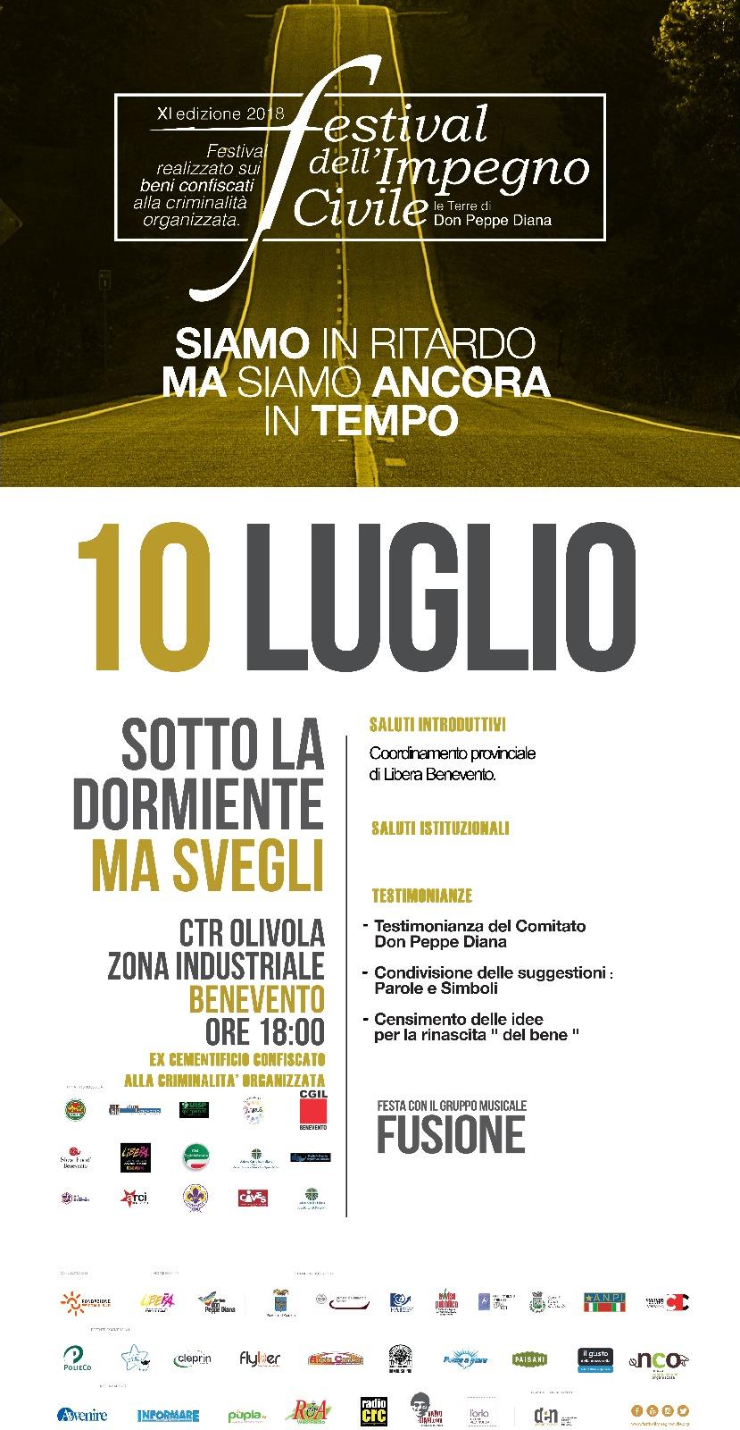 Benevento|A Contrada Olivola la tappa del Festival dell'Impegno Civile