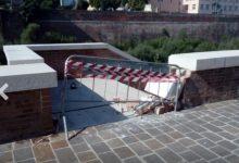 Benevento| Crolla muretto sulla passeggiata fluviale, paura per tre govani