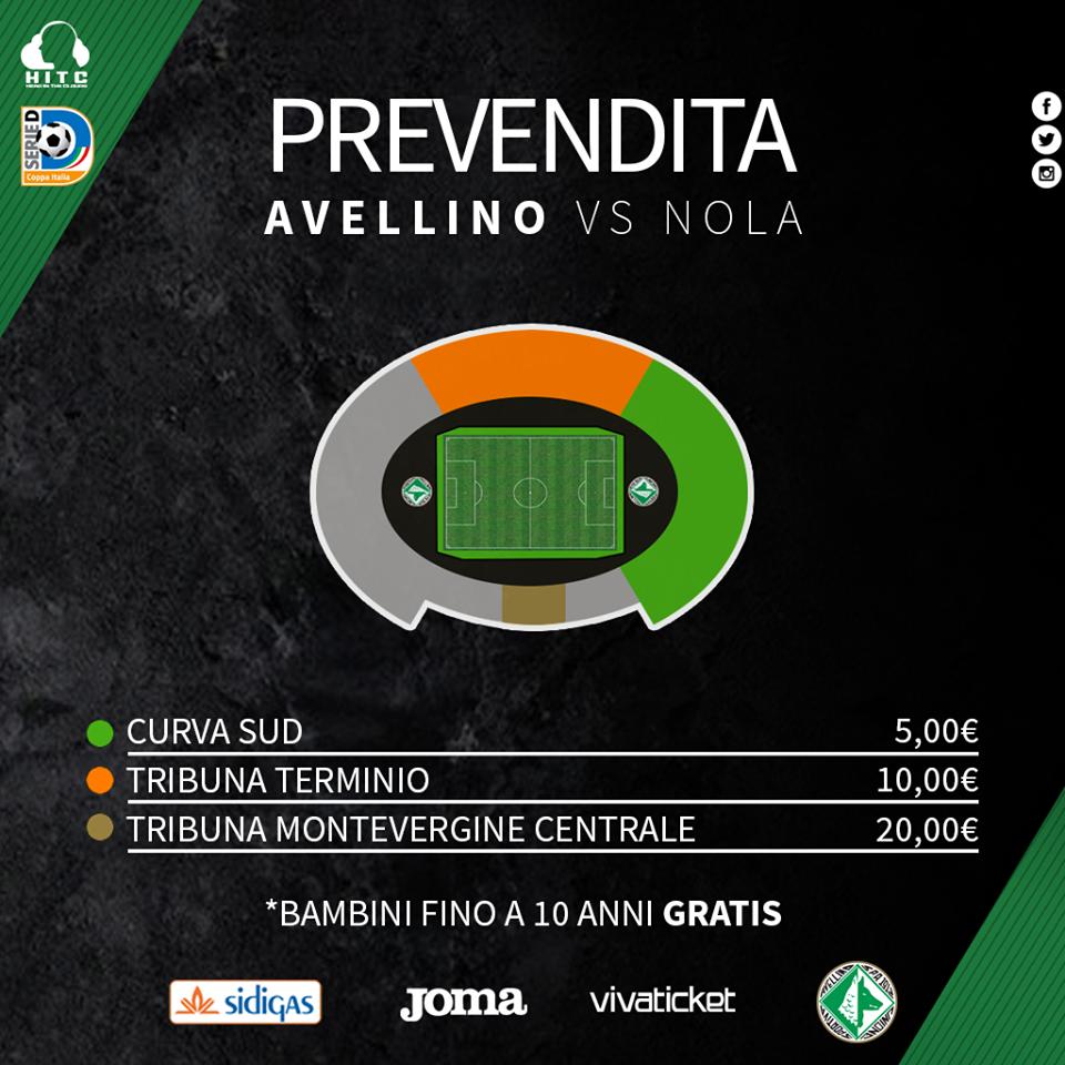 Avellino – Nola a porte aperte, da oggi al via la prevendita