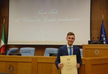 Benevento| Unisannio, giovane neolaureato premiato alla Camera dei Deputati