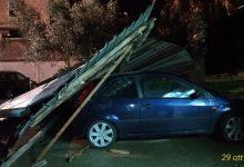 Tempesta nel Sannio,alberi caduti e coperture divelte/FOTO
