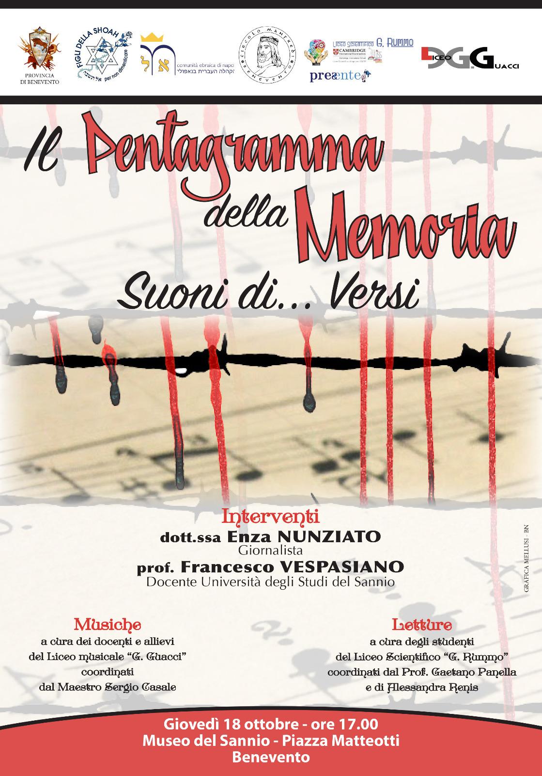 """Benevento  Al Museo del Sannio la manifestazione """"Il pentagramma della Memoria"""""""