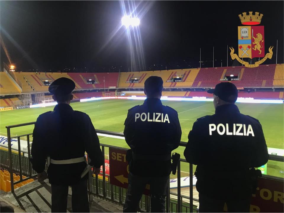 Match Benevento-Brescia, daspo per un tifoso