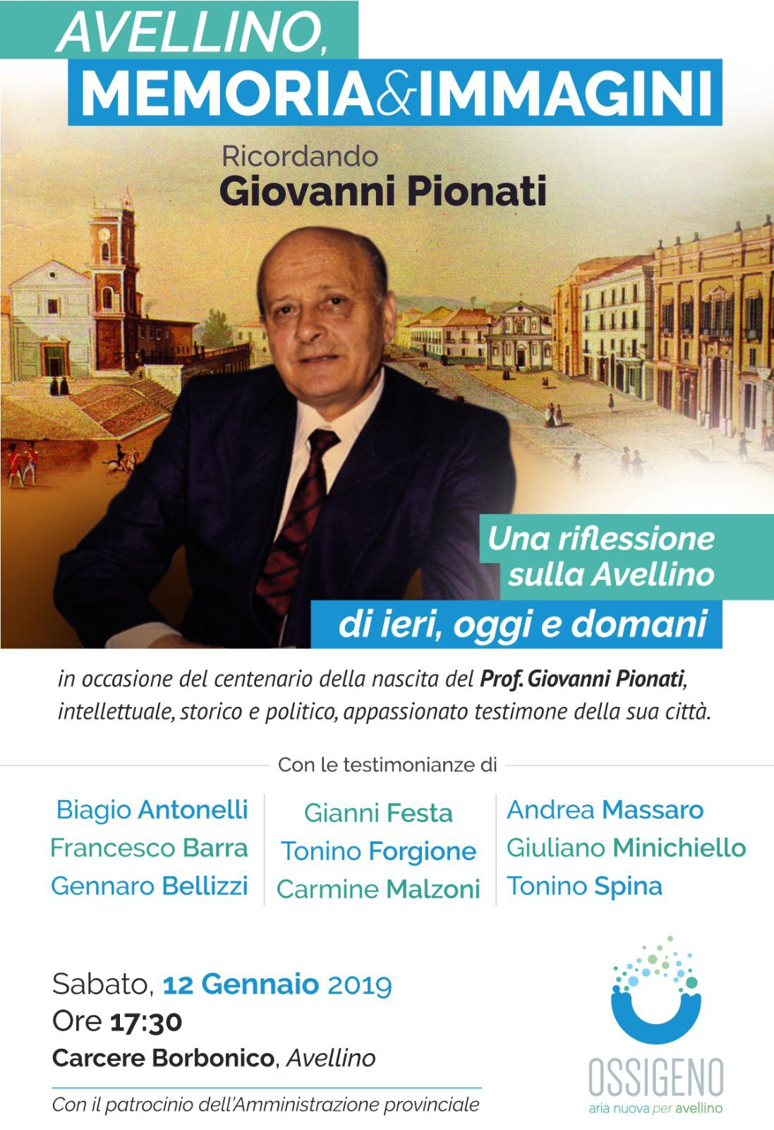 Avellino| Ossigeno ricorda il professore Giovanni Pionati nel centenario dell nascita