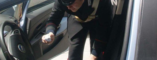 San Martino V. C.| In auto con 5 grammi di cocaina, denunciato 30enne di Rotondi