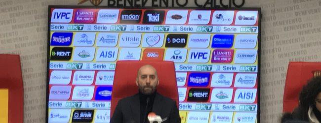 """Benevento, Bucchi: """"Stavolta la classifica la guardo. Coda deve togliere il freno a mano"""""""