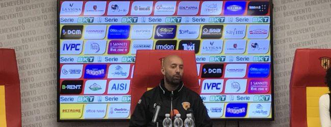 """Benevento, Bucchi: """"Gara col Palermo importante, ma non decisiva. Voglio una squadra feroce"""""""