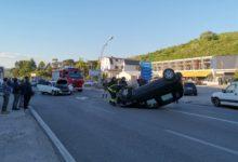 Incidente sull'Appia, convolte due auto a bordo anche due bambini