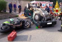Montecalvo Irpino| Auto contro moto, schianto sulla statale 14: due feriti, grave un 24enne
