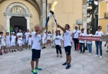 La Fiaccola dell'Universiade risplende su Benevento