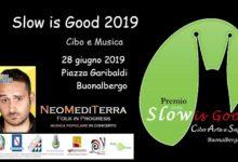 Buonalbergo  Il gruppo di musica popolare NeoMediTerra e il comico Santino Caravella chiudono l'evento Slow is Good 2019